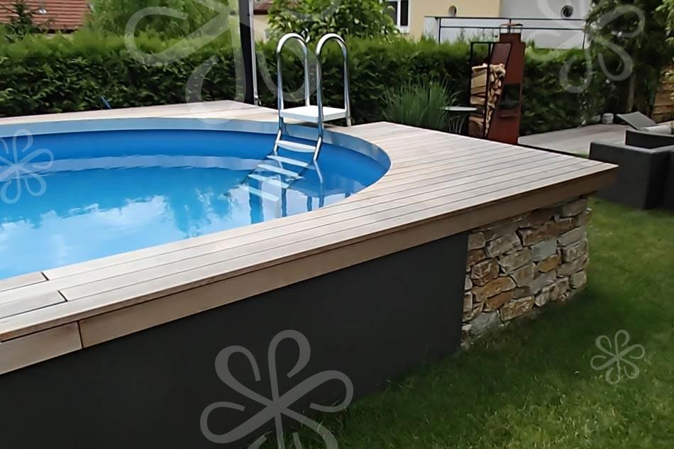 91 pool aussen verkleiden sunny pool rund schwimmbecken for Innenraumdesign studium