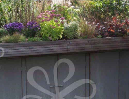 Der integrierte Gartenschuppen