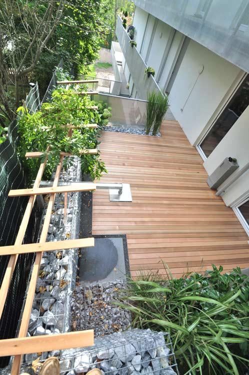 Zedernholz Für Terrasse : Terrassengarten mit Dusche Gartencraft